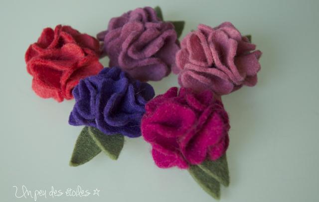fleurs-feutrine